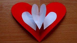 Basteln mit Papier: 'Herz Pop up Karte' für Valentintstag, Muttertag & Hochzeit [W+]