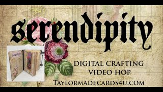 Journal Book with Digital papers - Mrs.  Darcy's Diary Video Hop