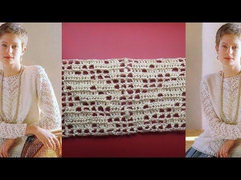 Филейное вязание Простая Красивая кофта