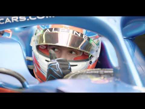 F1 - L'Alpine A521 en piste à Silverstone