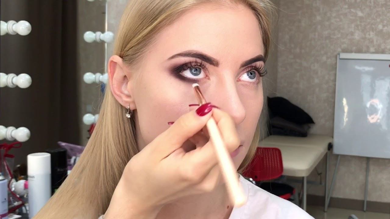 ВЕЧЕРНИЙ МАКИЯЖ. Макияж в карандашной технике. Makeup tutorial