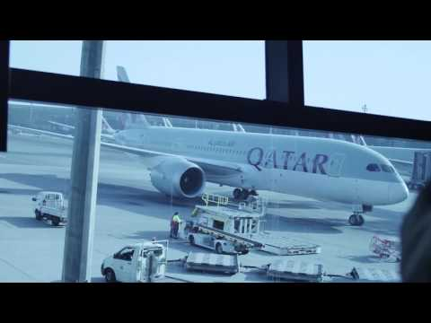 Travel.(read the description) Hamad International Qatar Airways flight!
