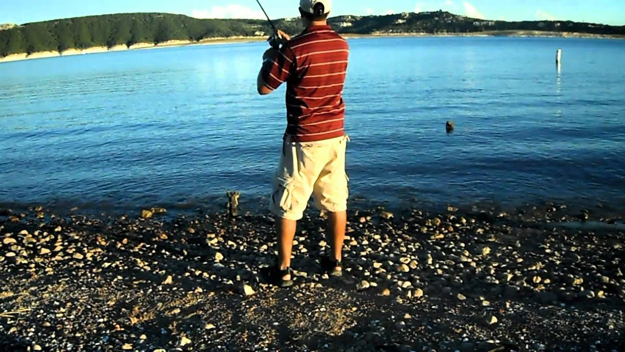 Lake travis bass fishing 2 5 pound bass caught on a 5 for Lake travis fishing report