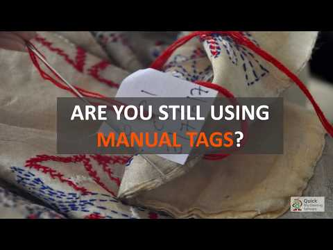 Problems in Manual Tagging of Garments in  Dry Cleaning and Laundry Business