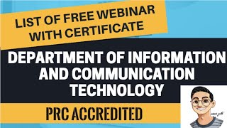 ???? FREE WEBINAR FOR TEACHERS WITH PRC ACCREDITED CERTIFICATE I DICT WEBINAR (JUNE)