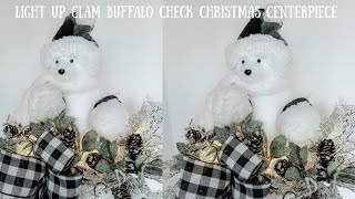 LIGHT UP BUFFALO CHECK CENTERPIECE | QUICK AND EASY DIY| BEAUTIFUL HOLIDAY DECOR | HIGH END DIY 2019