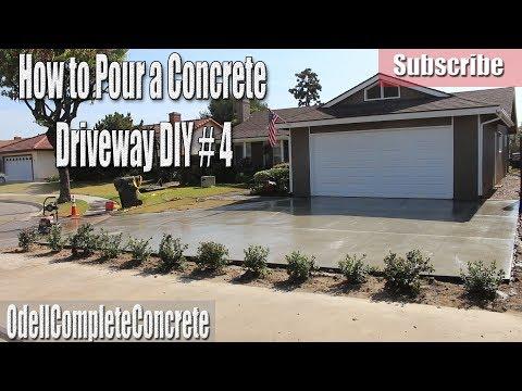 Concrete driveway pouring process march 2014 doovi for How to pour a concrete driveway