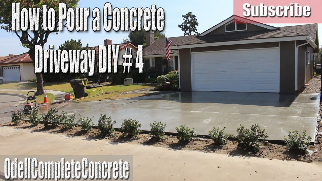 How to pour a concrete driveway diy 4 youtube how to pour a concrete driveway diy 4 solutioingenieria Choice Image