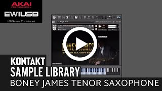 VST Boney James Tenor Saxophone Sample Library Kontakt 5