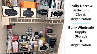 Narrow Bathroom Closet Organization, How To Organize Bathroom Closet