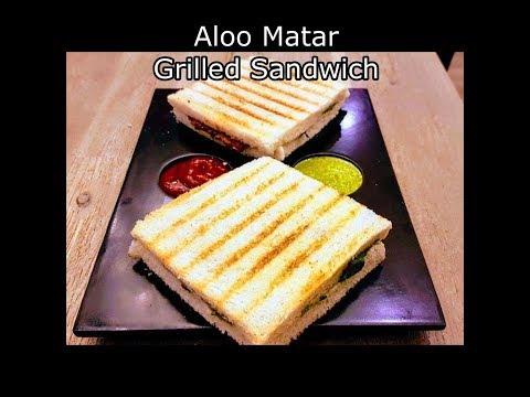 Aloo Matar Grilled Sandwich