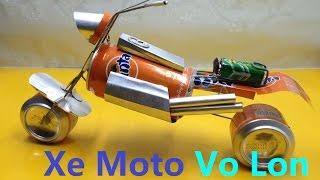 Tự Làm Xe Moto Độc Đáo Từ Vỏ Lon - How to make toy motorcycle motor