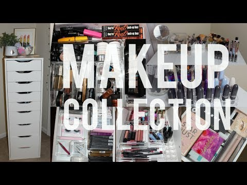 Makeup Collection 2017 | Ikea Alex 9 Drawer & Vanity Tour