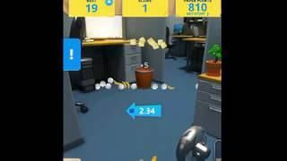 Paper Toss Boss iOS Gameplay