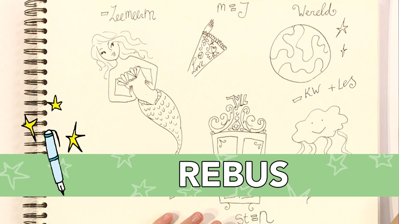 Verrassend Jill - DIY: Rebus tekenen - YouTube AQ-35