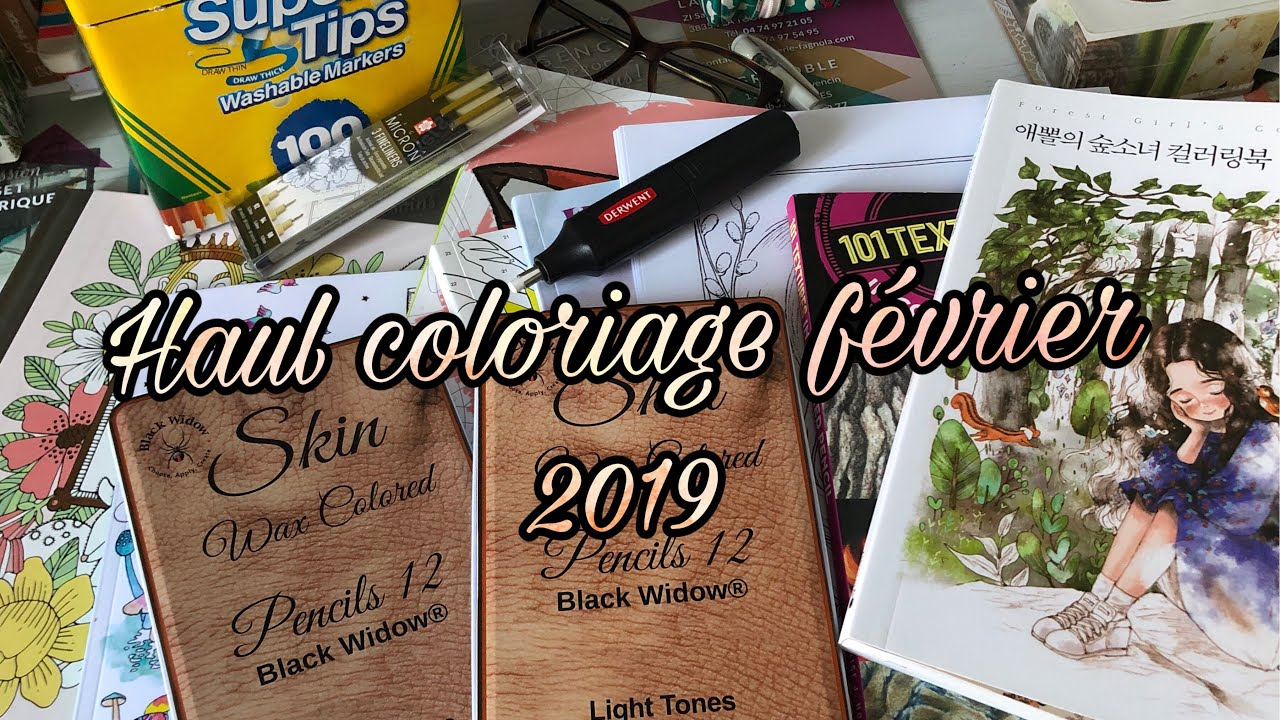 Haul Coloriage Février 2019