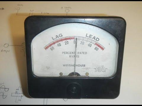 Analog Power Factor Meter (Lead, Lag Meter) by Westinghouse