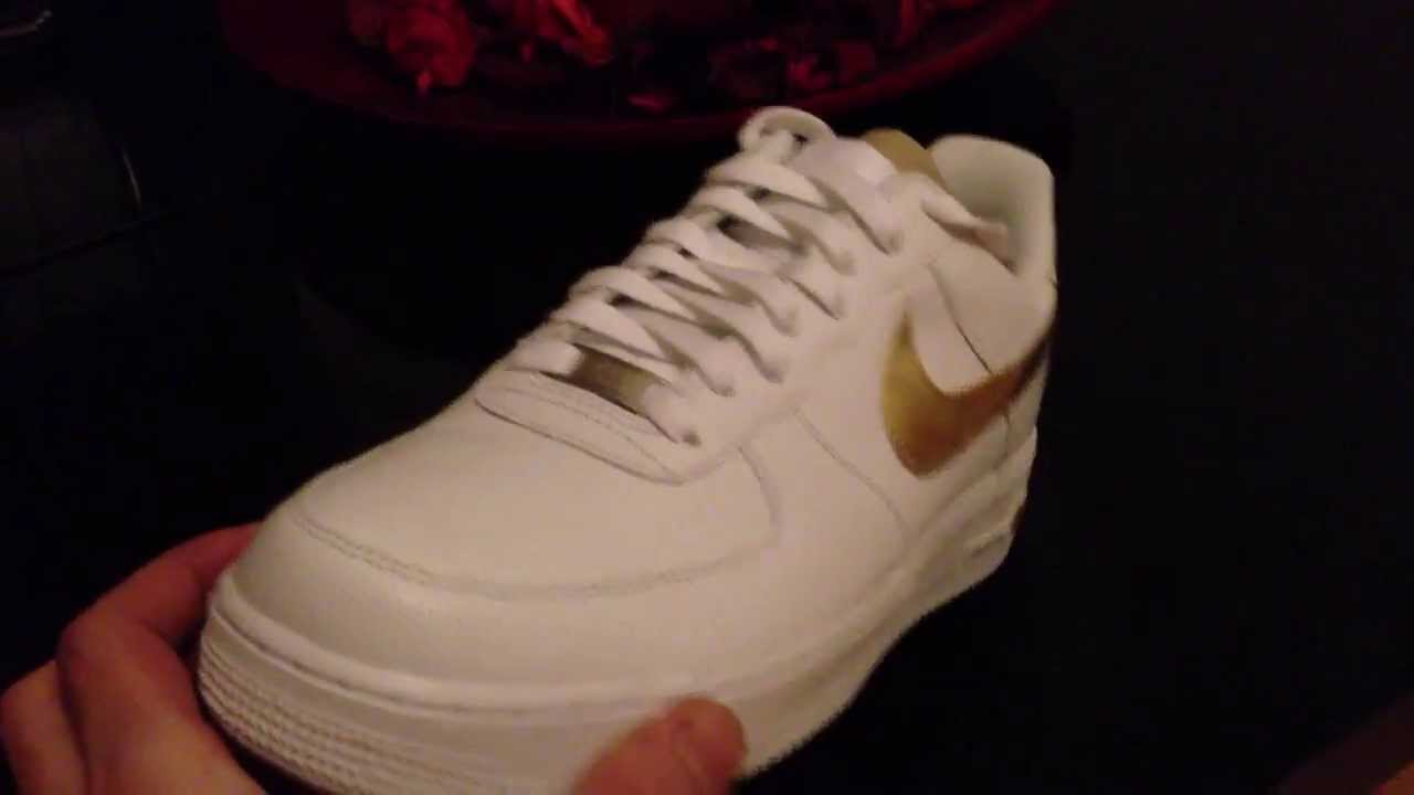 24kt gold Nike Air Force one trainers