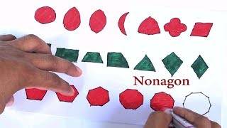 Shapes Drawing and Coloring for Kids,Baby and Toddler  Learn Shape in Creative Way with Painting