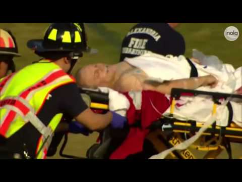 Thumbnail: GRAPHIC CONTENT WARNING: See the scene as Steve Scalise is wheeled to a helicopter after being shot