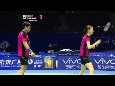 2015 Sudirman Cup,Malaysia - Korea: Chan Peng Soon/Goh Liu Ying vs Ko Sung Hyun/Kim Ha Na