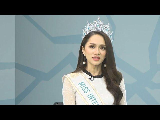 Hoa hậu Hương Giang giao lưu sau khi thành Hoa hậu Chuyển giới Quốc tế