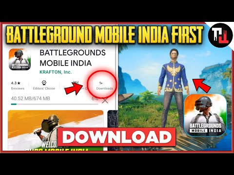 BATTLEGROUNDS MOBILE INDIA FIRST DOWNLOAD || Battlegrounds Mobile India Pre Register Link