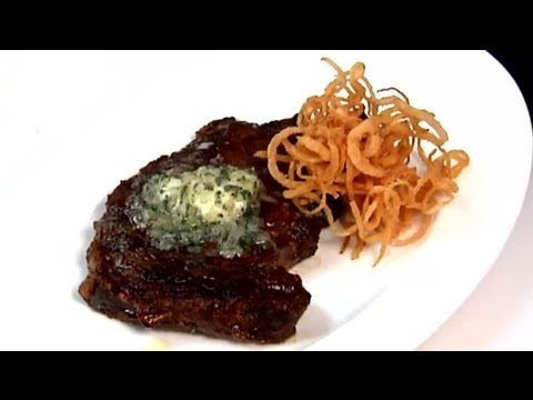 Broiled Rib Eye Steaks With Fresh Herb Butter : Entree Recipes