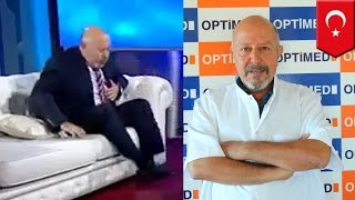 Heart attack on live TV: Turkish doctor Uğur Yensel has two heart attacks before ad break