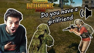 Funny PUBG Mobile Random Duos And Squads Voice Chat !!!