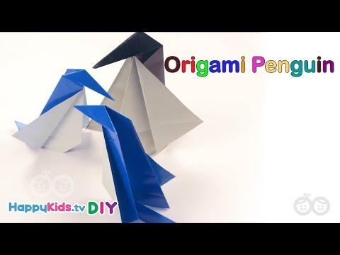 Origami Penguin | Kid's Crafts And Activities | Happykids DIY
