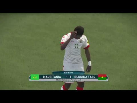 PS4 PES 2017 Gameplay Mauritania vs Burkina Faso [HD]