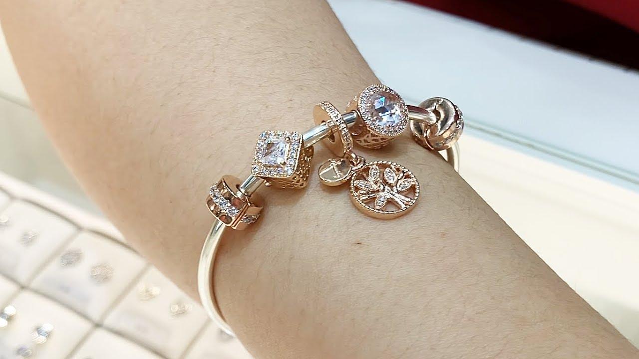 bracelet rose pandora
