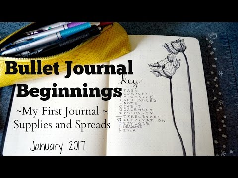 Bullet Journal Beginnings | Supplies, Setup, and Spreads for My First Bullet Journal | January 2017