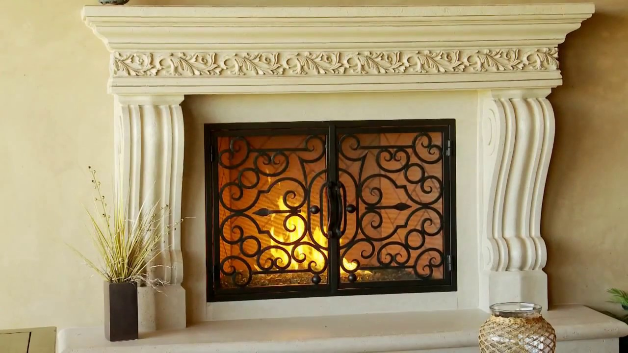 Precast mantels,Fireplace surrounds,Iron Fireplace Doors and Screens in San  Diego - Precast Mantels,Fireplace Surrounds,Iron Fireplace Doors And