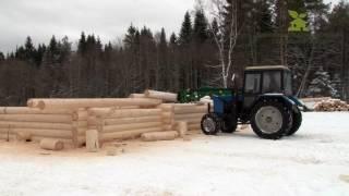 рубка сруба в зимнее время ООО Сямженский лес