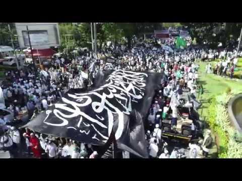 Aksi Bela Bendera Tauhid Jakarta | Pandangan Udara Suasana Aksi