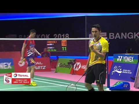 Thomas Cup | Nice drop shot by Christie vs Malaysia | BWF 2018