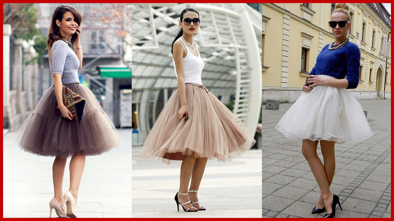 Stylish ways of wearing Tutu Skirts