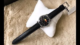 (Review Đồng Hồ]) GUCCI G-Timeless Black with Stars and Planet Moonphase Dial Ladies Watch YA1264045