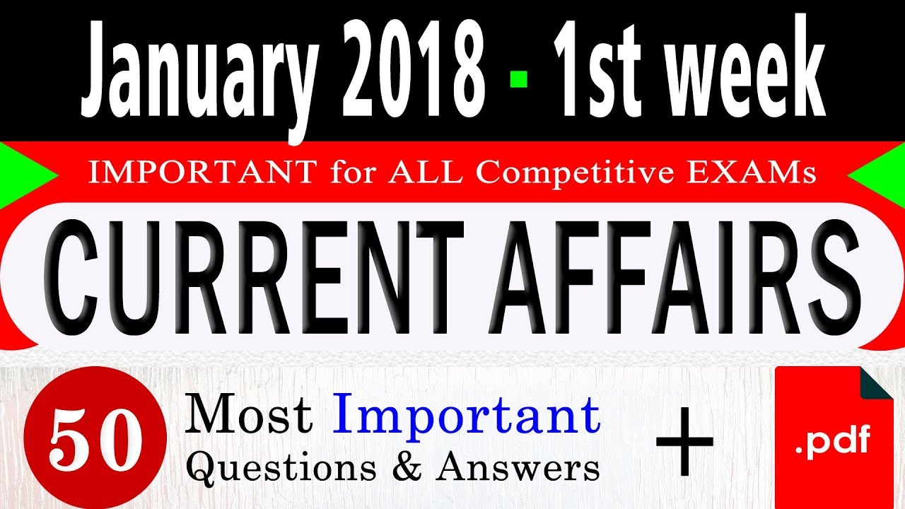 Question Answers On Current Affairs Pdf