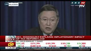 WATCH: Finance officials explain effects of tax reform law; Pres'l Spokesperson Roque holds briefing