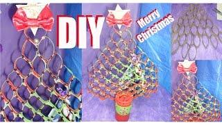 Faça Árvore de Natal Feita com Rolos de Papel Higiênico por Roxachic