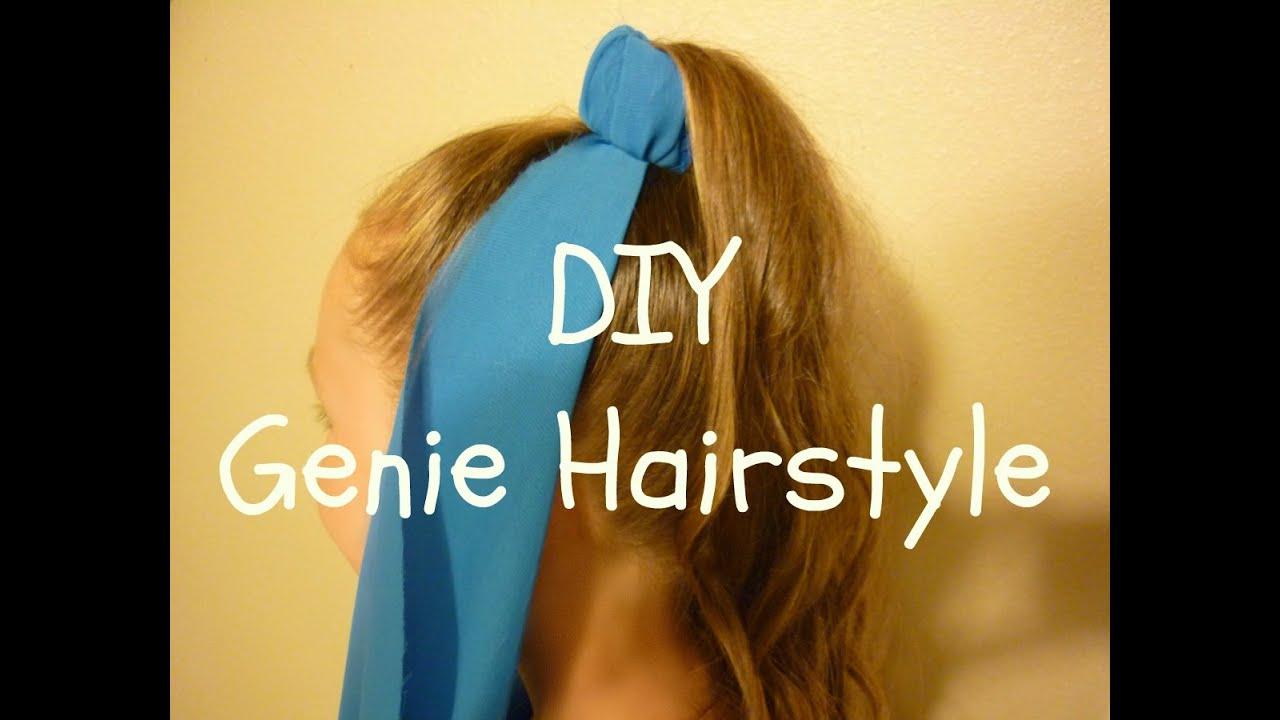 Genie Hairstyle u0026 DIY Genie Costume Headpiece Halloween Hairstyles & Genie Hairstyle u0026 DIY Genie Costume Headpiece Halloween Hairstyles ...