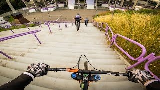 URBAN DOWNHILL MTB Street Tour AUE, GERMANY - Lukas Knopf