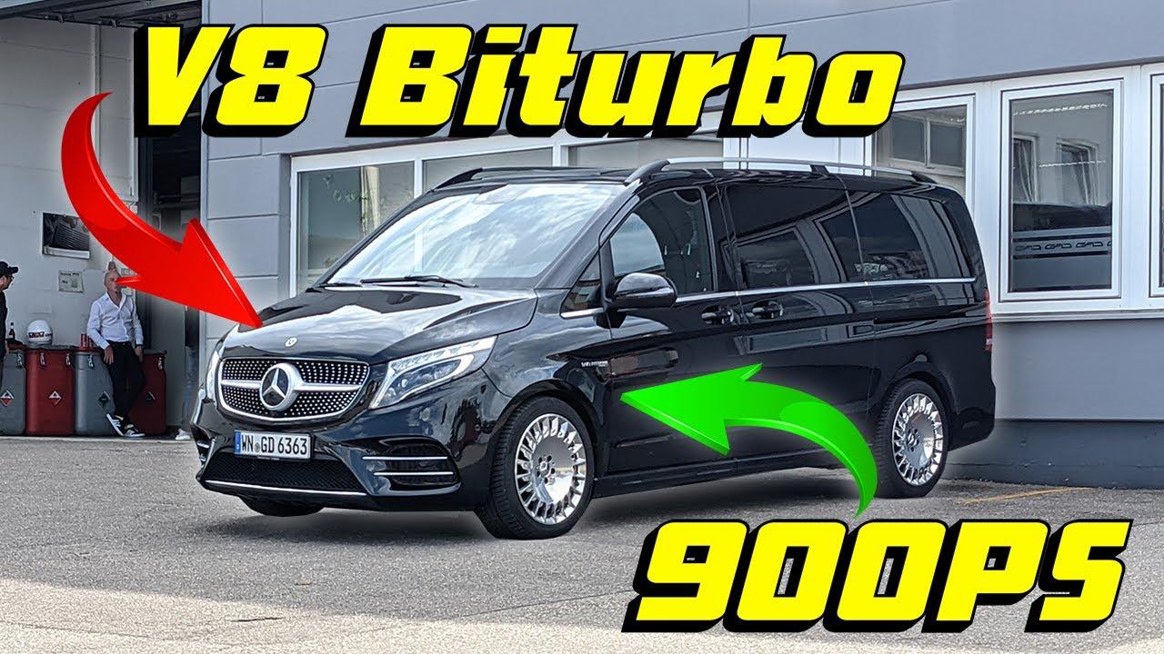 Der schnellste Familien-Van der Welt! Mercedes V-Klasse mit V8-Biturbo und 900 PS💥