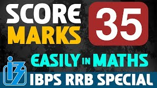 SCORE 35 MARKS EASILY IN MATHS | IBPS RRB SPECIAL 2017 2017 Video