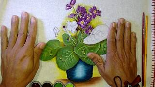 Roberto Ferreira – Aprenda a Pintar Violetas – Parte 2