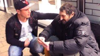 Obdachlosen an Weihnachten eine Freude machen