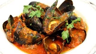 Mussels (Moules) Moroccan Style Recipe - CookingWithAlia - Episode 283